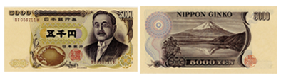 新渡戸稲造5000円,新渡戸五千円